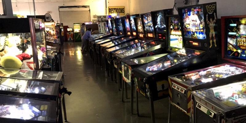 Row of Pinballs at Pinball Hall of Fame
