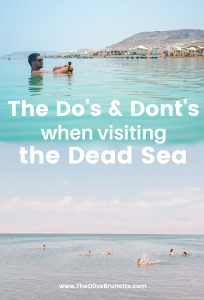 dos and donts of the dead sea