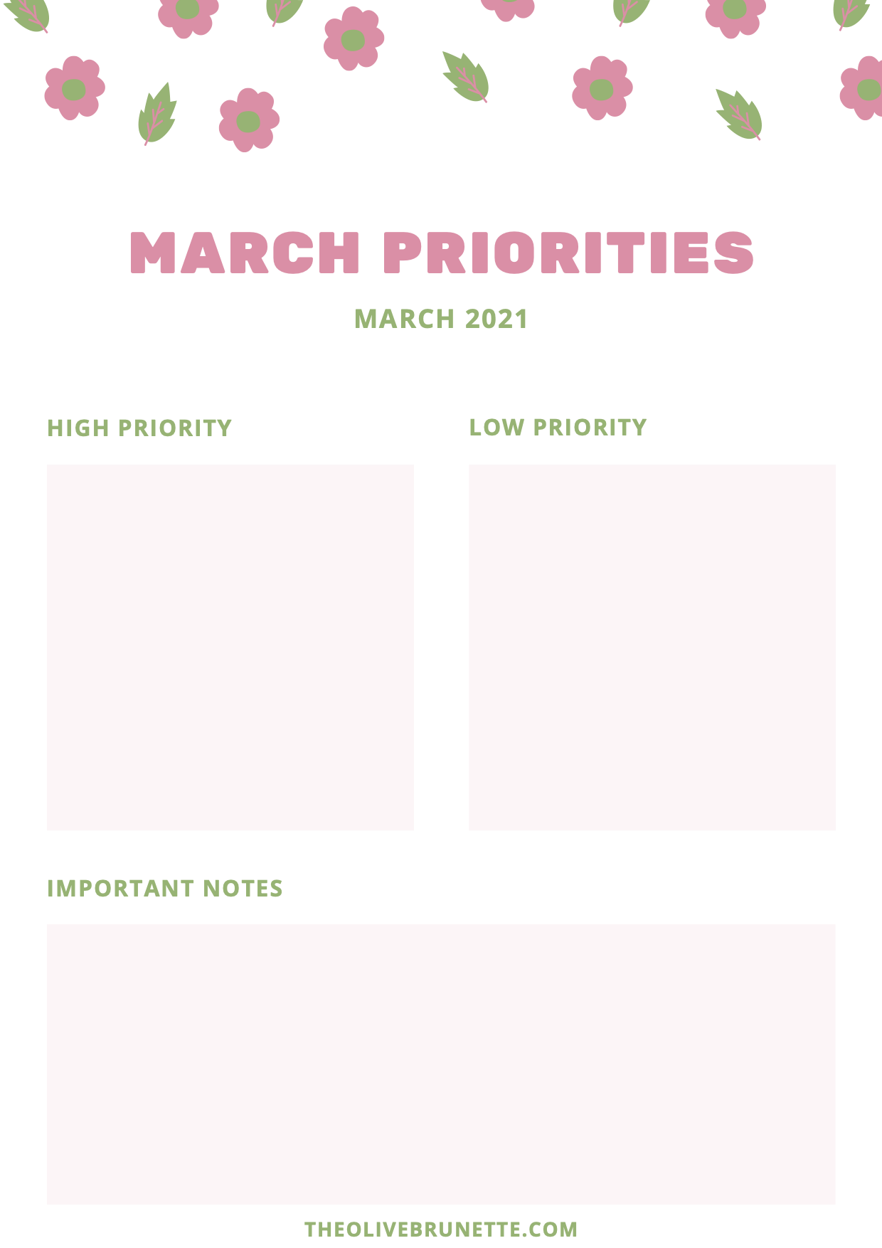 march priorities