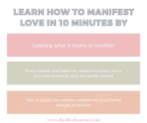 learn how to manifest love
