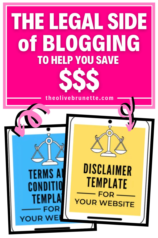 legal side of blogging